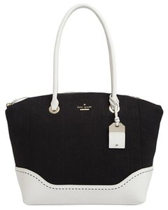 Kate Spade Leather Canvas Black White Shoulder Bag