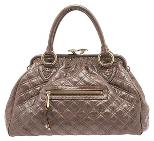 Marc Jacobs Stam Quilted Satchel in Taupe