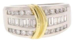 WHOLESALE - Platinum & 18k yellow gold 1 ct diamond band