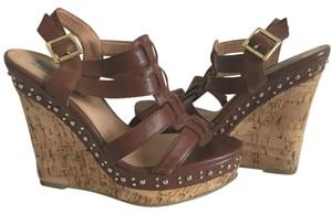 Steve Madden 7.5 Brown Wedges