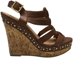 Steve Madden 7.5 Studded 7.5 Brown Wedges