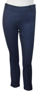 Zara Straight Pants NAVY BLUE