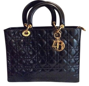 Dior Patent Cannage Shoulder Bag