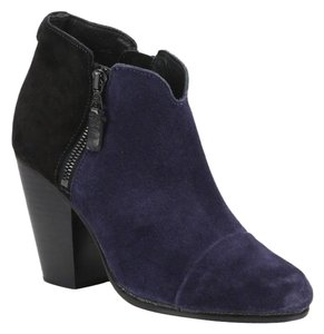 Rag & Bone Black Suede Leather Navy Combo Boots