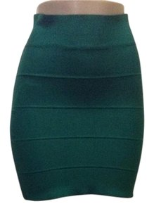 BCBGMAXAZRIA Mini Skirt Emerald Green