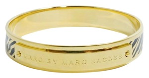 Marc by Marc Jacobs MARC BY MARC JACOBS ZEBRA PRINT BANGLE BRACELET BLACK GOLD W BAG $88