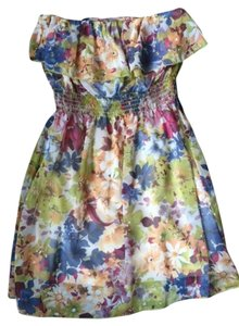 Estam short dress Mixed Floral Summer Flowy on Tradesy