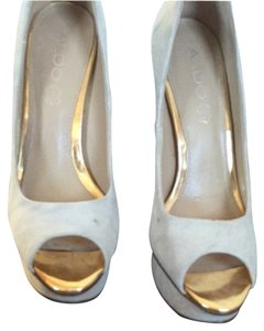 ALDO Light Tan Or Ivory Platforms