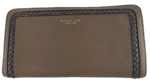 Michael Kors MICHAEL KORS SKORPIOS Collection Continental Brown Leather Wallet