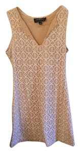 Biba short dress White and nude on Tradesy