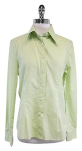 Dolce&Gabbana Lime Green Cotton Shirt Button Down Shirt