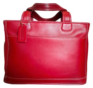 Coach Vintage Satchel in Red