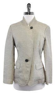 Lafayette 148 New York Grey Cotton Hemp Jacket