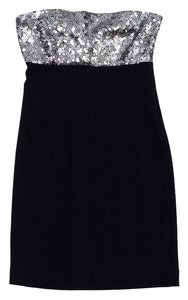 Theory short dress Black Sequined Strapless on Tradesy