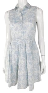 Band of Outsiders short dress White/Blue Tea Length Cotton Sleeveless on Tradesy