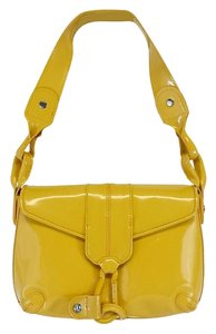 Donald J. Pliner Yellow Patent Leather Hobo Bag