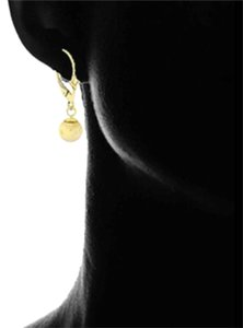 Other 14kt Gold Dangle Ball Lever Back