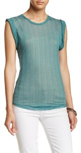 Free People Jewel Muscle T Shirt JEWEL GREEN