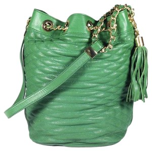 BCBGMAXAZRIA Quilted Bucketbag Leather Shoulder Bag