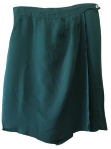 Dana Buchanan Skort Silk Office Skirt Green