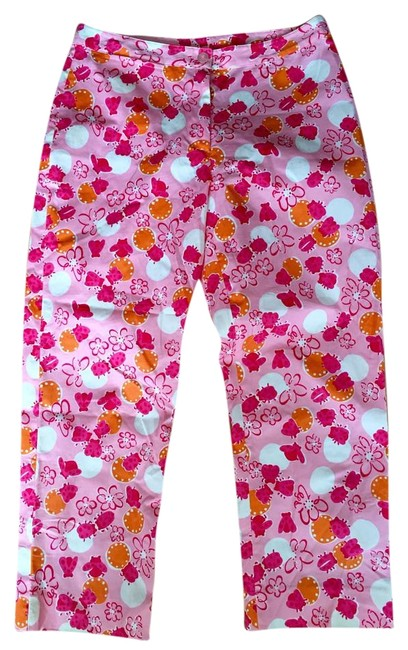 Item - Orange Pink White Crop Pant Capris Size Petite 4 (S)