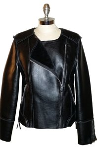 Topshop Faux Leather Silver Hardware Motorcycle Jacket