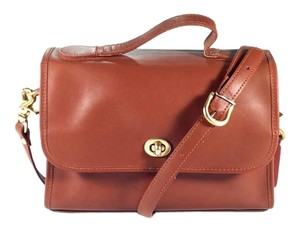 Coach Leather Vintage Messenger Satchel in Tan