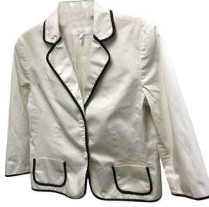 Escada Jacket Beach Off White with Black Trim Blazer