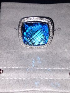 David Yurman Blue Topaz 20mm Ring
