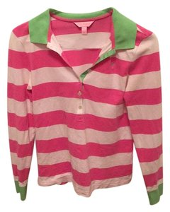 Lilly Pulitzer Button Down Shirt Pink and green