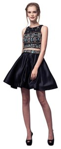Bicici & Coty 2 Piece Set Sleeveless Beading Crepe Crystal Dress