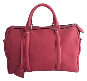 Louis Vuitton Sc Veau Cachemire Satchel in Rose Litchi Pink