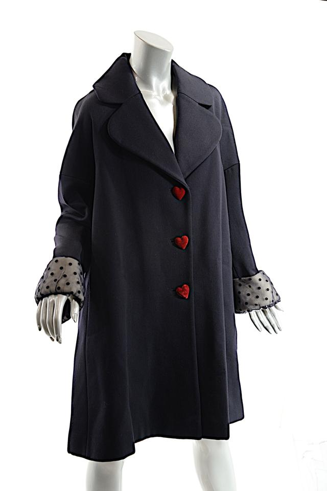 e2d2dace4dbe4 Moschino Cheap and Chic Black Vintage Wool/Angora Heart Buttons Coat ...