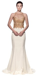 Bicici & Coty Backless Trumpet Embroidered Beaded Ee9266 Dress