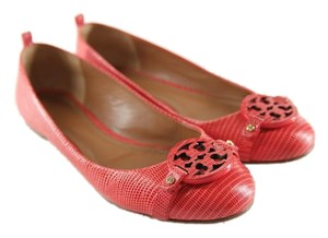 Tory Burch Ballet Leather Red Flats