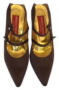 Andrea Pfister shoes Formal Satin Brown Mules