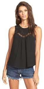STOREE Lattice Juniors Top BLACK