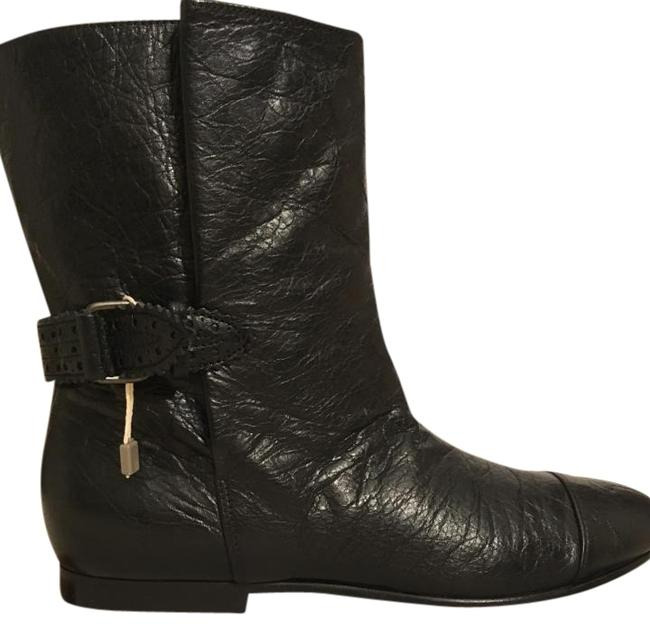 Item - Black Box New In Classic Distressed Leather Biker Ankle Boots/Booties Size US 7 Regular (M, B)