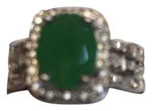 NRamseyStreet Collection Emeral green and white topaz