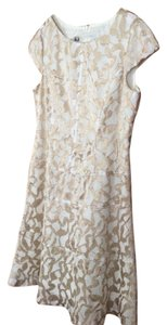 beige/white Maxi Dress by Anne Klein