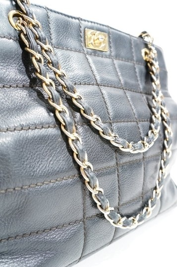 Chanel Lambskin Leather Quilted Chain Handle Tote Shopper Handbag Purse Shoulder Bag Image 1