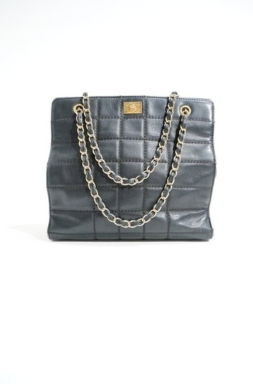 Chanel Lambskin Leather Quilted Chain Handle Tote Shopper Handbag Purse Shoulder Bag Image 2