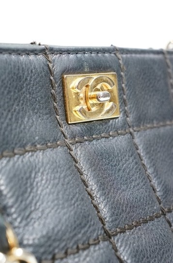 Chanel Lambskin Leather Quilted Chain Handle Tote Shopper Handbag Purse Shoulder Bag Image 4