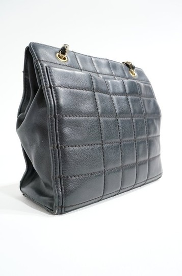 Chanel Lambskin Leather Quilted Chain Handle Tote Shopper Handbag Purse Shoulder Bag Image 6