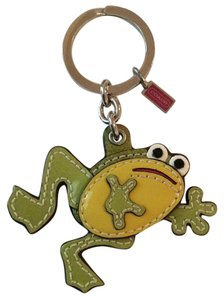 Coach Patient Leather Frog Key Fob Keychain