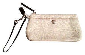 Coach Wristlet in White with black strap