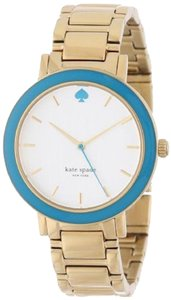 Kate Spade Kate Spade New York Women's Turquoise Bezel Gold Gramercy Watch