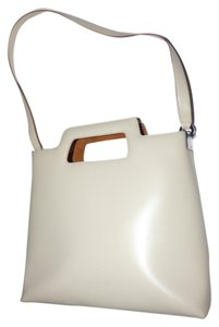 Salvatore Ferragamo Mint Vintage Dressy Or Casual Satchel in neutral beige leather
