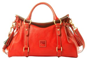 Dooney & Bourke Florentine 8l940rd Medium Leather Satchel in RED