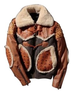 MCM Coat Phenomenon Winter Coat COGNAC Leather Jacket